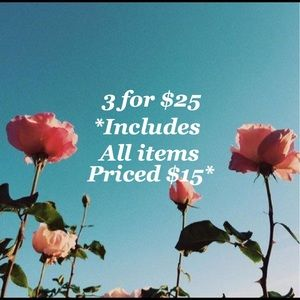 💰SALE💰Bundle 3 items listed for $15 for only $25